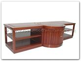 "Chinese Furniture - ffls84tv -  T.v. cabinet with 28 inch recessed lazy susan - 84"" x 28"" x 20"""