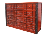 "Chinese Furniture - fflz12chest -  chest of 12 drawers ganoderma design - 60"" x 16"" x 48"""