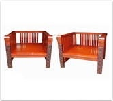 "Chinese Furniture - fflz1sf -  Arm sofa chair ganoderma design - 35"" x 30"" x 27"""