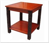 "Rosewood Furniture - fflzend -  End table ganoderma design - 24"" x 24"" x 26"""