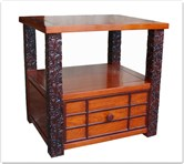 "Rosewood Furniture - fflzside -  Side table ganoderma design - 23"" x 19"" x 22"""