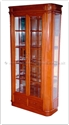 "Chinese Furniture - ffm40rgcab -  Ming style round corner glass cabinet - 40"" x 14"" x 78"""