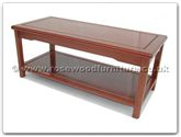 "Oriental Furniture Range - ORffm40scof -  Ming style coffee table with  shelf - 40"" x 18"" x 17"""