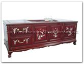 "Oriental Furniture - ffmopttab -  Tea table tiger legs with m.o.p. - 50"" x 27.5"" x 20"""