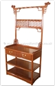 "Chinese Furniture - ffmsds -  Ming style dressing stand - 2 drawers - 34.5"" x 18"" x 75.5"""