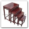 "Chinese Furniture - ffoknest -  Nest table open key design (set of 4) - 20"" x 14"" x 26"""