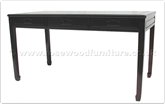 "Chinese Furniture - ffp3ddesk -  Desk with 3 drawers plain design - 60"" x 30"" x 31"""