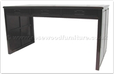 "Chinese Furniture - ffp3sdesk -  Desk Plain Design with 3 drawers and side panels - 60"" x 30"" x 31"""