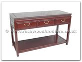 "Chinese Furniture - ffp50ser -  Serving table with 3 drawers plain design with shelf - 50"" x 20"" x 31"""