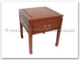 "Chinese Furniture - ffpdside -  Side table with drawer plain design - 20"" x 20"" x 22"""