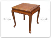 "Rosewood Furniture - ffqalend -  Queen ann legs end table   - 20"" x 20"" x 22"""