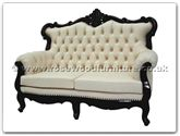 "Chinese Furniture - ffqgl2sofa -  Queen Ann legs leather Sofa 2 seater - 56"" x 31"" x 42"""