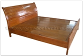 "Oriental Furniture - ffqssbp -  Queen size sleigh bed plain design - "" x "" x """