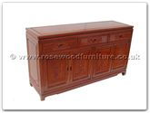 "Oriental Furniture - ffr60bbuf -  Buffet with 3 drawers  and  4 doors f and b design - 60"" x 19"" x 34"""