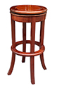 "Chinese Furniture - ffrbstool -  Revolving bar stool - 14"" x 14"" x 30"""