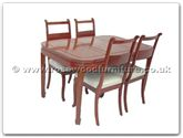 "Rosewood Furniture - ffrc54din -  Round corner dining table with 4 chairs - 54"" x 36"" x 30"""