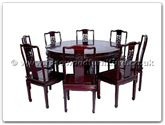 "Rosewood Furniture - ffrd54din -  Round Dining Table Solid Dragon Carved Table With 8 Side Dragon Chairs - 54"" x 54"" x 30"""