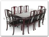 "Rosewood Furniture - ffrd80tab -  Round corner dining table dragon design with 2+6 chairs - 80"" x 44"" x 30"""