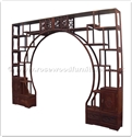 "Rosewood Furniture - ffrdivf -  Room divider cabinet flower carved - 128"" x 12"" x 98"""