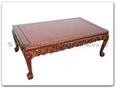 "Oriental Furniture Range - ORffrdtcof -  Coffee table dragon design tiger legs - 50"" x 30"" x 18"""