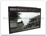 "Chinese Furniture - ffrf67mir -  Wood frame bevel mirror f and b design - 67"" x 42"" x 2"""