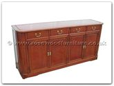 "Rosewood Furniture - ffrm72buf -  Round corner ming style buffet - 72"" x 19"" x 34"""