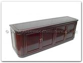 "Chinese Furniture - ffrmbuf -  Ming style round corner buffet with 4 doors - 72"" x 19"" x 26"""