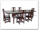"Rosewood Furniture - ffrmtabo -  Round Corner Ming Style Dining Table With 6 Chairs - 99"" x 44"" x 30"""