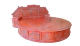 "Chinese Furniture - ffroubed -  round bed full carved - 115.75"" x 102"" x 0"""