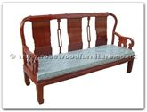 "Chinese Furniture - ffrp3sofa -  Three seater sofa with fixed cushion - 73"" x 23"" x 40"""