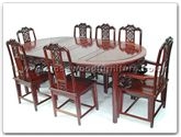 "Rosewood Furniture - ffry80din -  Oval ru-yi style dining table with 2+ 6 chairs - 80"" x 44"" x 30"""