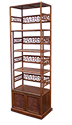 "Rosewood Furniture - ffshbkca -  Bookcase songhe design w/2 doors - 24"" x 14"" x 69"""