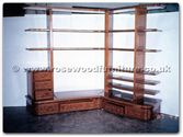 "Rosewood Furniture - ffexample -  Curved back shelving unit - 0"" x 0"" x 0"""