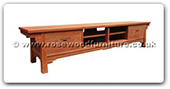 "Rosewood Furniture - ffshtv2d -  Shinto style t.v. cabinet with 2 drawers Large - 86.5"" x 18"" x 19"""