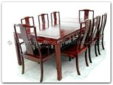 "Rosewood Furniture - ffsl78din -  Sq dining table longlife design w2+6 chairs - 78"" x 44"" x 30"""