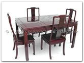"Rosewood Furniture - ffsq54dinl -  Sq Dining Table Longlife Design With 4 Chairs - 54"" x 36"" x 30"""