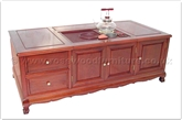 "Oriental Furniture - fftddtable55 -  Tea table tiger legs - 2 drawers and 3 doors - 55"" x 27.4"" x 22"""