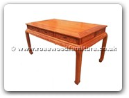 "Chinese Furniture - ffteatf -  Tea table flower carved with 3 drawers - 57.5"" x 34"" x 31"""