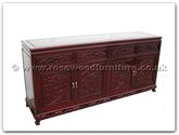 "Chinese Furniture - fftg72buf -  Buffet grape design tiger legs - 72"" x 19"" x 34"""