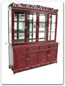 "Chinese Furniture - fftg72hut -  Buffet grape design tiger legs with top (with spot light  and  mirror back) - 72"" x 19"" x 84"""