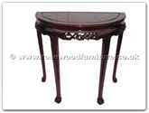 "Chinese Furniture - fftgbhmt -  Half Moon Table F and B Design Tiger Legs - 36"" x 18"" x 34"""