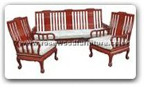 "Oriental Furniture Range - ORffthbsofa -  High back sofa tiger legs (excluding cushion) - 72"" x 22"" x 36"""