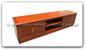 "Rosewood Furniture - fftv4dp -  T.V. cabinet plain design with 4 doors - 78.5"" x 16.5"" x 19.5"""