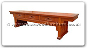 "Chinese Furniture - fftvc3d -  T.V. cabinet flower carved with 3 drawers - 76"" x 19.5"" x 19"""