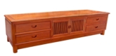 "Chinese Furniture - fftvcabm -  ming style t.v. cabinet w/4 drawers & 2 doors - 78"" x 19"" x 19"""