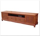 "Rosewood Furniture - fftvfdd -  T.V. cabinet full dragon design w/2 drawers  and  2 doors - 85.5"" x 19"" x 22"""